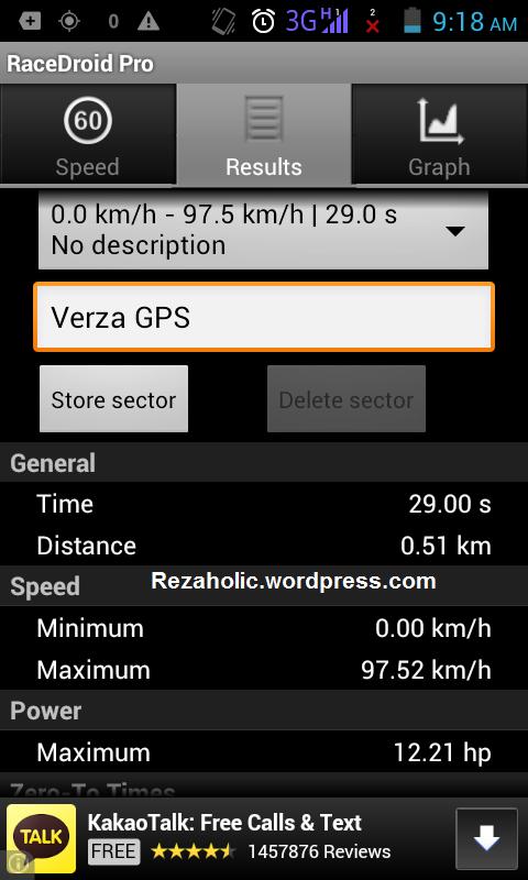 RaceDroid @97.52 Km/h